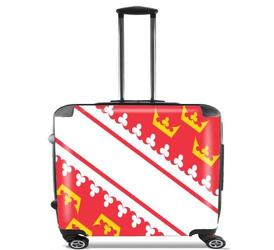 "Drapeau alsacien Alsace Lorraine for Wheeled bag cabin luggage suitcase trolley 17"" laptop"