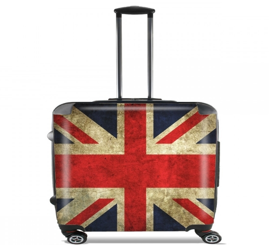"Old-looking British flag for Wheeled bag cabin luggage suitcase trolley 17"" laptop"