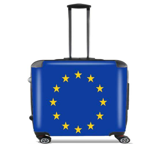 "Europeen Flag for Wheeled bag cabin luggage suitcase trolley 17"" laptop"
