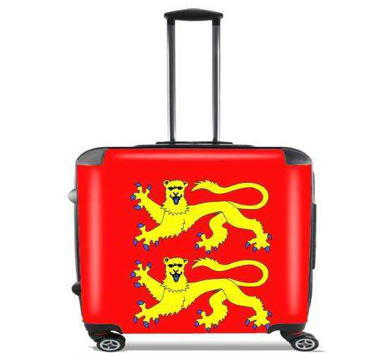 "Drapeau Normand for Wheeled bag cabin luggage suitcase trolley 17"" laptop"
