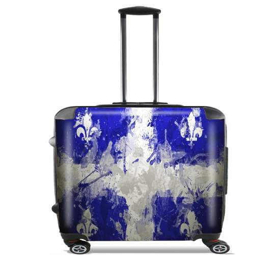 "Drapeau Quebec Peinture for Wheeled bag cabin luggage suitcase trolley 17"" laptop"