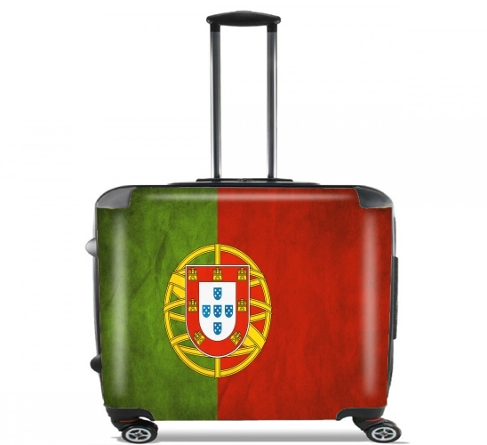 "Vintage Flag Portugal for Wheeled bag cabin luggage suitcase trolley 17"" laptop"