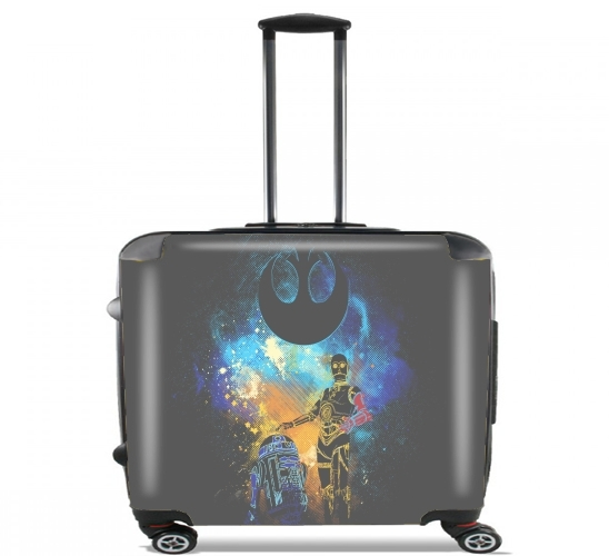 "Droids Art for Wheeled bag cabin luggage suitcase trolley 17"" laptop"