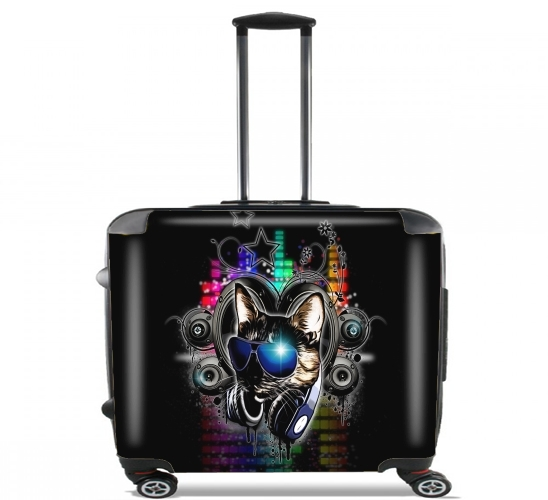 "Drop The Bass for Wheeled bag cabin luggage suitcase trolley 17"" laptop"