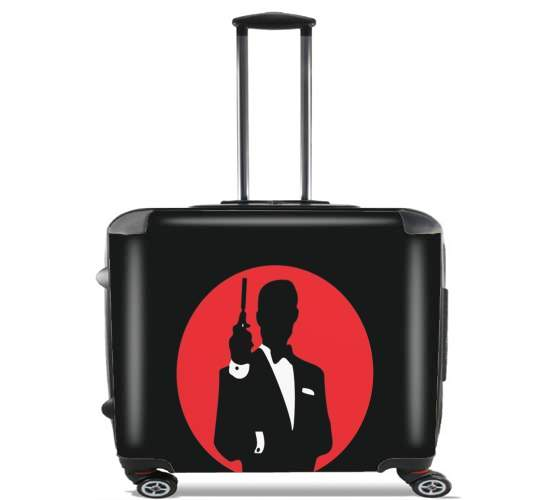 "English Secret Agent for Wheeled bag cabin luggage suitcase trolley 17"" laptop"