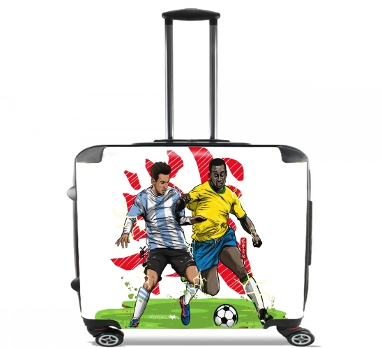 "Epic Battle: The King vs The Legend for Wheeled bag cabin luggage suitcase trolley 17"" laptop"