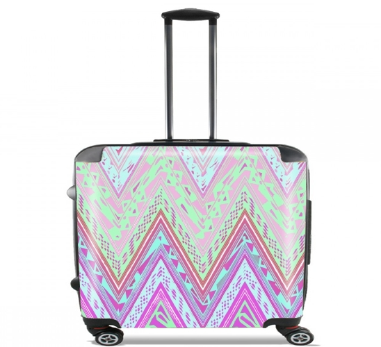 "ETHNIC CHEVRON for Wheeled bag cabin luggage suitcase trolley 17"" laptop"