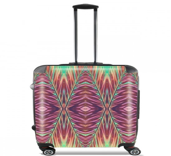 "Ethnic palm for Wheeled bag cabin luggage suitcase trolley 17"" laptop"
