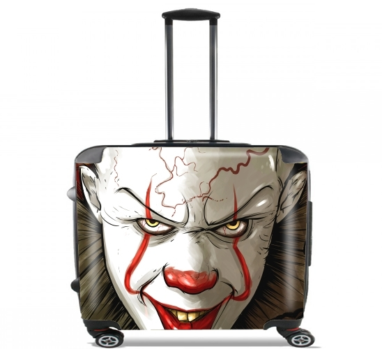 "Evil Clown  for Wheeled bag cabin luggage suitcase trolley 17"" laptop"