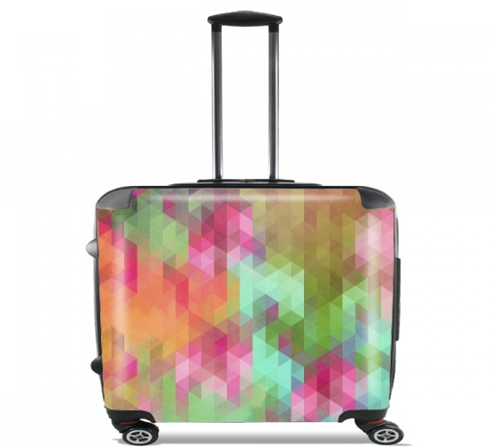 "Exotic Triangles for Wheeled bag cabin luggage suitcase trolley 17"" laptop"