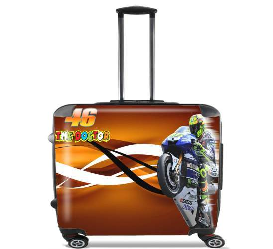 "Fan de Yamaha En Feu VR46 Doctors for Wheeled bag cabin luggage suitcase trolley 17"" laptop"