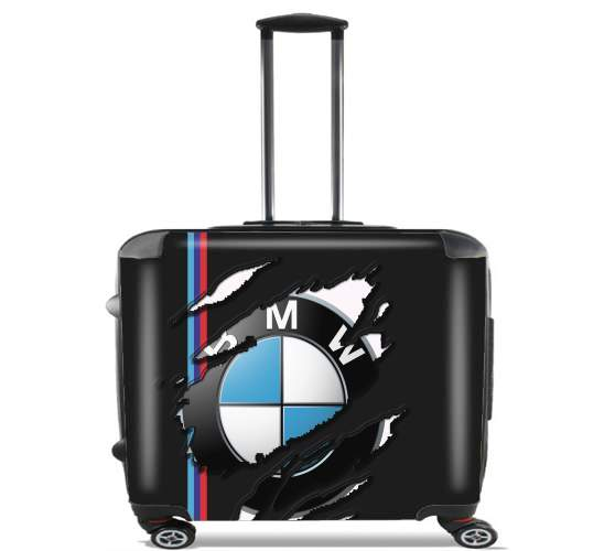 "Fan Driver Bmw GriffeSport for Wheeled bag cabin luggage suitcase trolley 17"" laptop"