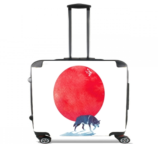 "Fear the red for Wheeled bag cabin luggage suitcase trolley 17"" laptop"