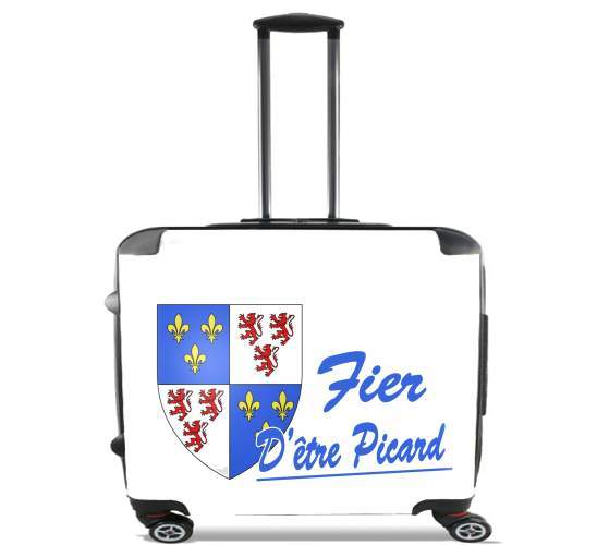 "Fier detre picard ou picarde for Wheeled bag cabin luggage suitcase trolley 17"" laptop"