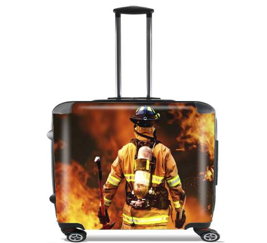 "Firefighter for Wheeled bag cabin luggage suitcase trolley 17"" laptop"