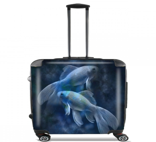 "Fish Style for Wheeled bag cabin luggage suitcase trolley 17"" laptop"