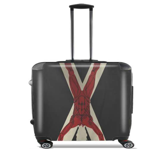 "Flag House Bolton for Wheeled bag cabin luggage suitcase trolley 17"" laptop"