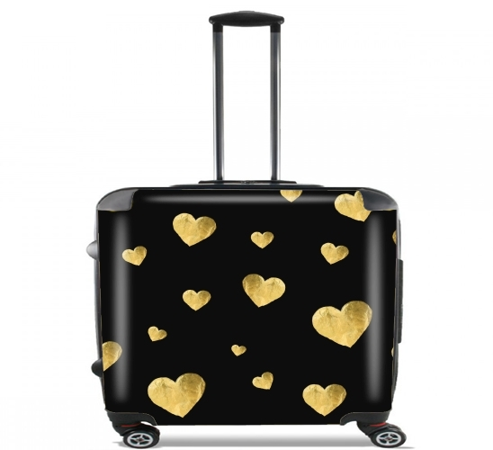 "Floating Hearts for Wheeled bag cabin luggage suitcase trolley 17"" laptop"