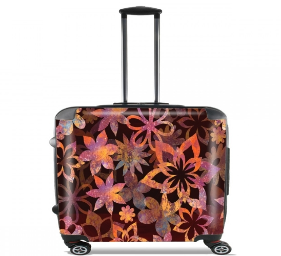 "FLOWER POWER for Wheeled bag cabin luggage suitcase trolley 17"" laptop"