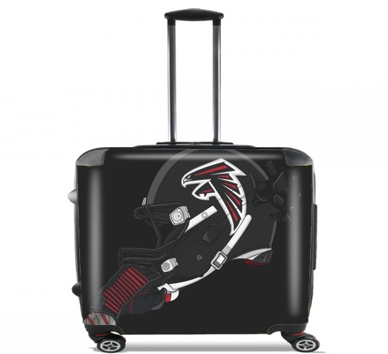 "Football Helmets Atlanta for Wheeled bag cabin luggage suitcase trolley 17"" laptop"