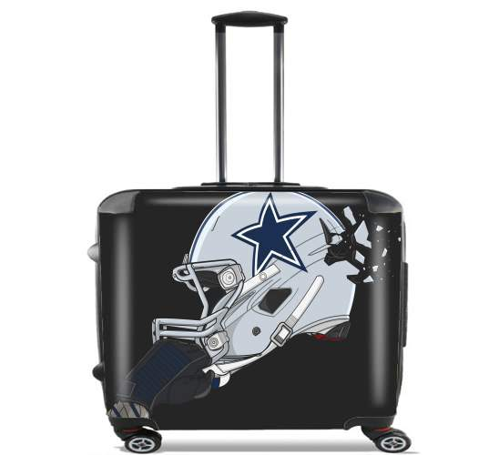 "Football Helmets Dallas for Wheeled bag cabin luggage suitcase trolley 17"" laptop"