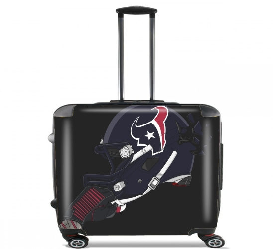 "Football Helmets Houston for Wheeled bag cabin luggage suitcase trolley 17"" laptop"