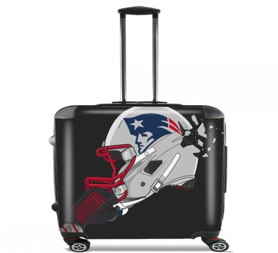 "Football Helmets New England for Wheeled bag cabin luggage suitcase trolley 17"" laptop"