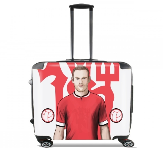 "Football Stars: Red Devil Rooney ManU for Wheeled bag cabin luggage suitcase trolley 17"" laptop"
