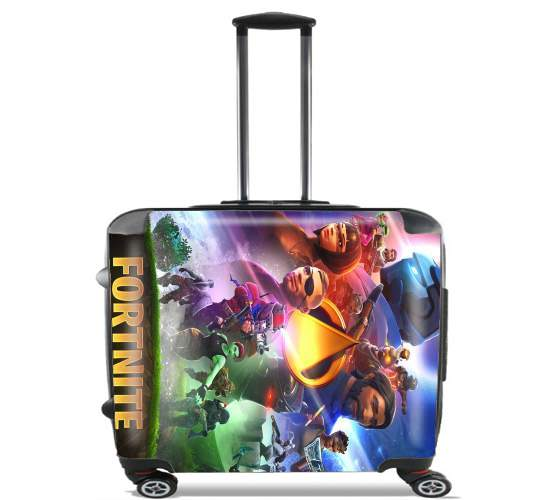"Fortnite Skin Omega Infinity War for Wheeled bag cabin luggage suitcase trolley 17"" laptop"