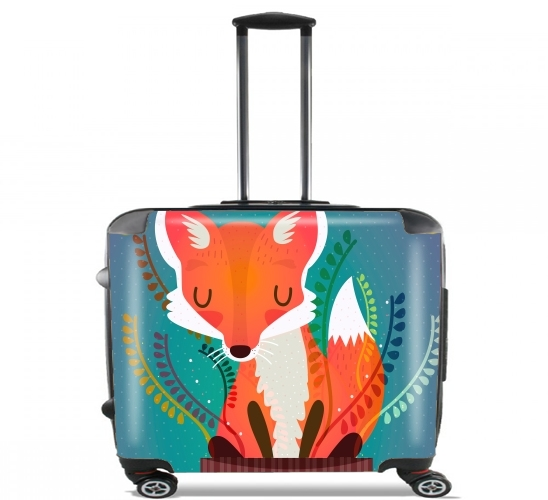 "Fox in the pot for Wheeled bag cabin luggage suitcase trolley 17"" laptop"
