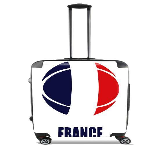 "france Rugby for Wheeled bag cabin luggage suitcase trolley 17"" laptop"