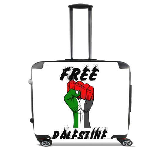 "Free Palestine for Wheeled bag cabin luggage suitcase trolley 17"" laptop"