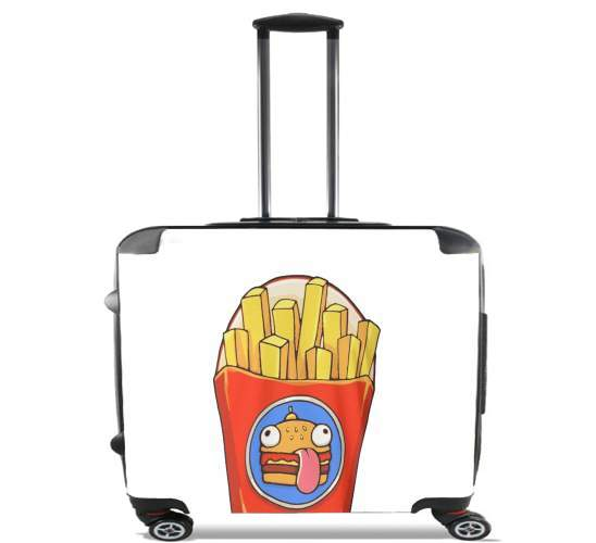 "French Fries by Fortnite for Wheeled bag cabin luggage suitcase trolley 17"" laptop"