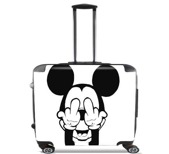 "Fuck You Mouse for Wheeled bag cabin luggage suitcase trolley 17"" laptop"