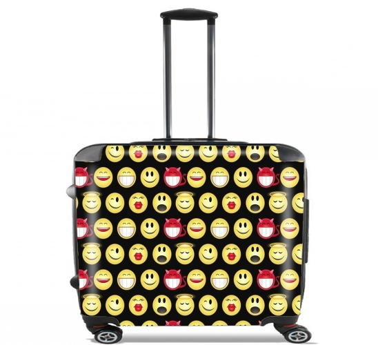 "funny smileys for Wheeled bag cabin luggage suitcase trolley 17"" laptop"