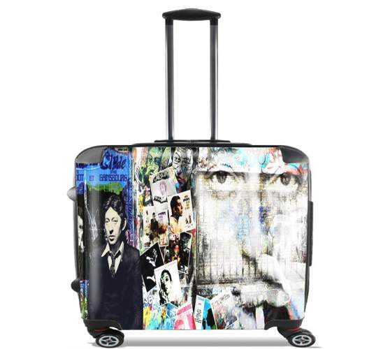"Gainsbourg Smoke for Wheeled bag cabin luggage suitcase trolley 17"" laptop"