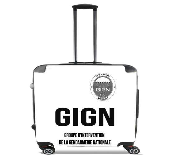"GIGN groupe dIntervention de la gendarmerie Classic for Wheeled bag cabin luggage suitcase trolley 17"" laptop"
