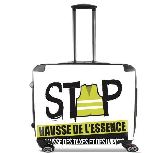 "Gilet Jaune Stop aux taxes for Wheeled bag cabin luggage suitcase trolley 17"" laptop"