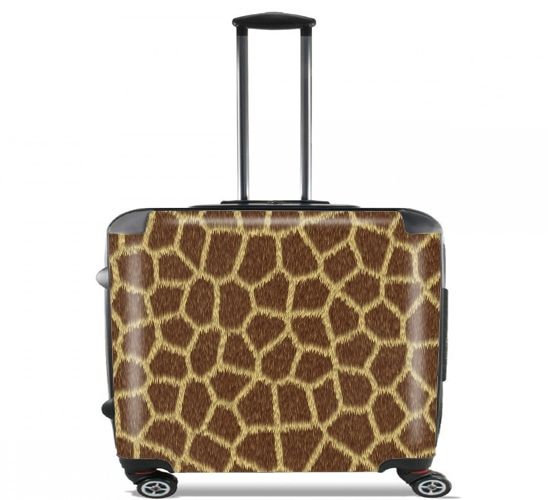 "Giraffe Fur for Wheeled bag cabin luggage suitcase trolley 17"" laptop"