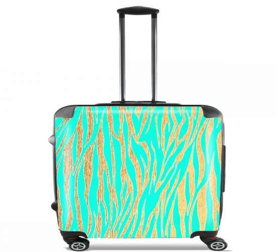"GOLD OCEANDRIVE for Wheeled bag cabin luggage suitcase trolley 17"" laptop"