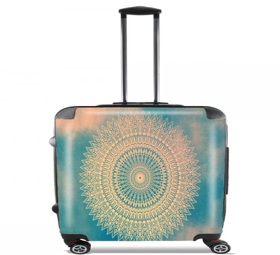 "GOLDEN SUN MANDALA for Wheeled bag cabin luggage suitcase trolley 17"" laptop"