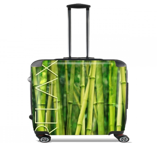 "green bamboo for Wheeled bag cabin luggage suitcase trolley 17"" laptop"