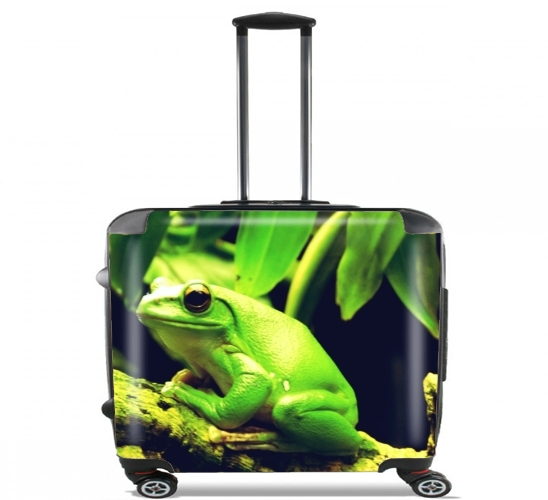 "Green Frog for Wheeled bag cabin luggage suitcase trolley 17"" laptop"