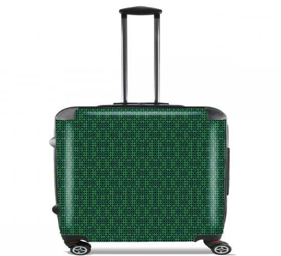 "GREEN MAYHEM for Wheeled bag cabin luggage suitcase trolley 17"" laptop"