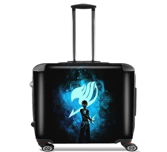 "Grey Fullbuster - Fairy Tail for Wheeled bag cabin luggage suitcase trolley 17"" laptop"
