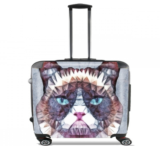 "grumpy cat for Wheeled bag cabin luggage suitcase trolley 17"" laptop"