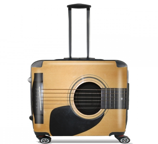 "Guitar for Wheeled bag cabin luggage suitcase trolley 17"" laptop"