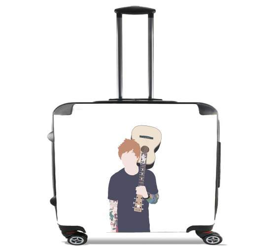 "Guitarist Ed for Wheeled bag cabin luggage suitcase trolley 17"" laptop"