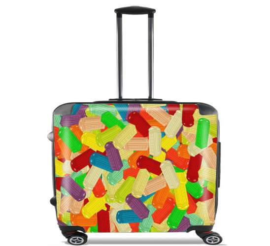 "Gummy London Phone  for Wheeled bag cabin luggage suitcase trolley 17"" laptop"