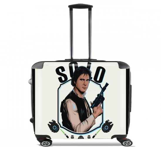 "Han Solo from Star Wars  for Wheeled bag cabin luggage suitcase trolley 17"" laptop"